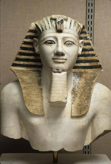 royal sculpture, dyn18, Thutmose III, Deir el-Bahari, NK