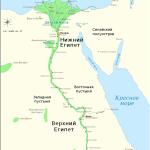 Названия городов Верхнего Египта